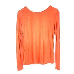 Trina Turk orange key hole back blouse sz:SM